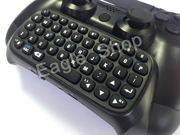 Drop shiping for PS4 Controller Black Bluetooth Mini Chatpad Text Message Keyboard for Sony for PS4 Controller(China (Mainland))