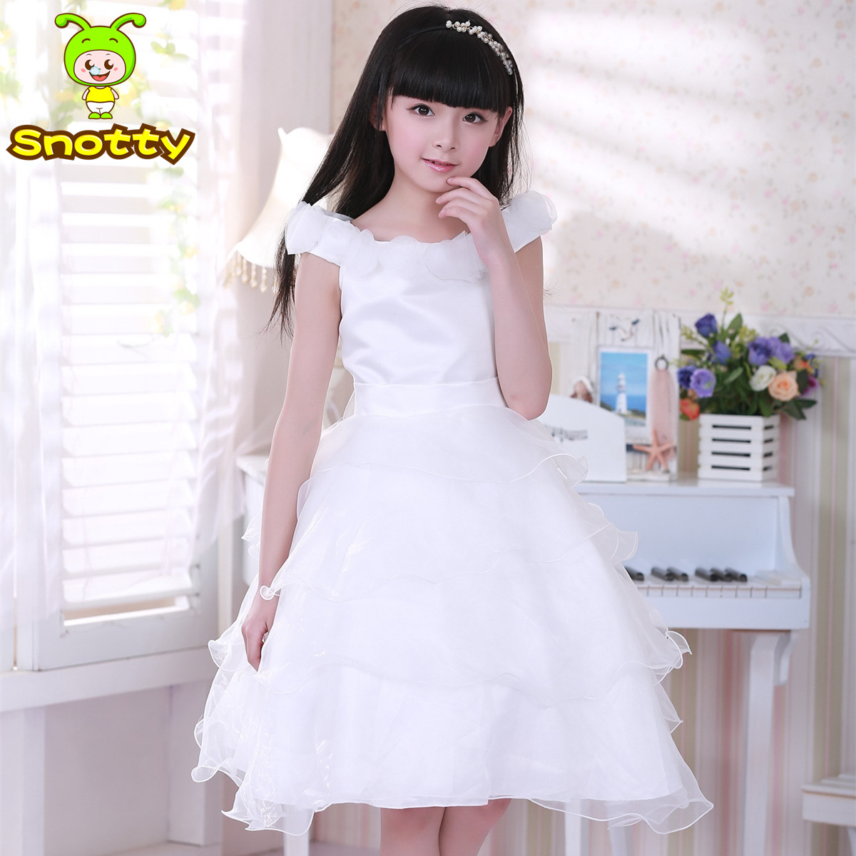 2016 party dresses for girls 12 years girl white wedding ...