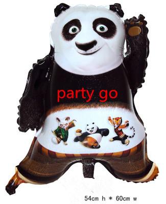 20pcs/lot Kung Fu Panda helium foil material Balloons cartoon animals ballon baby birthday party decor globos Animal shape toys(China (Mainland))