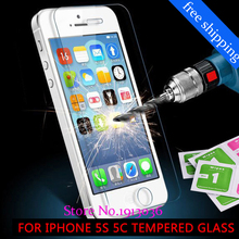 2015 new 0.26 mm for iphone 5S 5c Tempered Glass Screen Protector 5 premium 5S Front clear screen protector 1084 free shipping