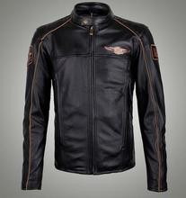 Men's Motorcycle Leather Jacket 97145(China (Mainland))