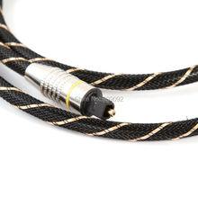 Высокая Toslink качество оптического аудио кабель ЭМ-A6.0 Аудио Spdif Шнур черный кабель для DVD-CD DAT аксессуар