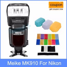 Buy Meike MK910 MK-910 i-TTL HSS Flash Speedlite Nikon SB900 D750 D800 + 3 Diffuser D7100 D800 D750 D600 DSLR for $102.00 in AliExpress store