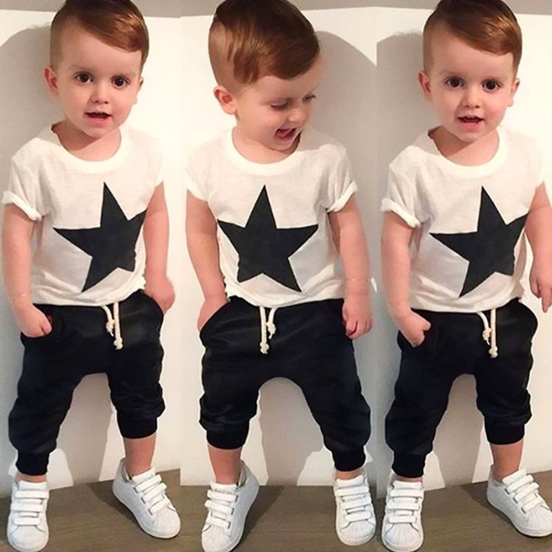 Summer kids clothes sets boy Start-shirt+ Harem Pants Suit clothing set Clothes baby boy sport suits children boys clothes