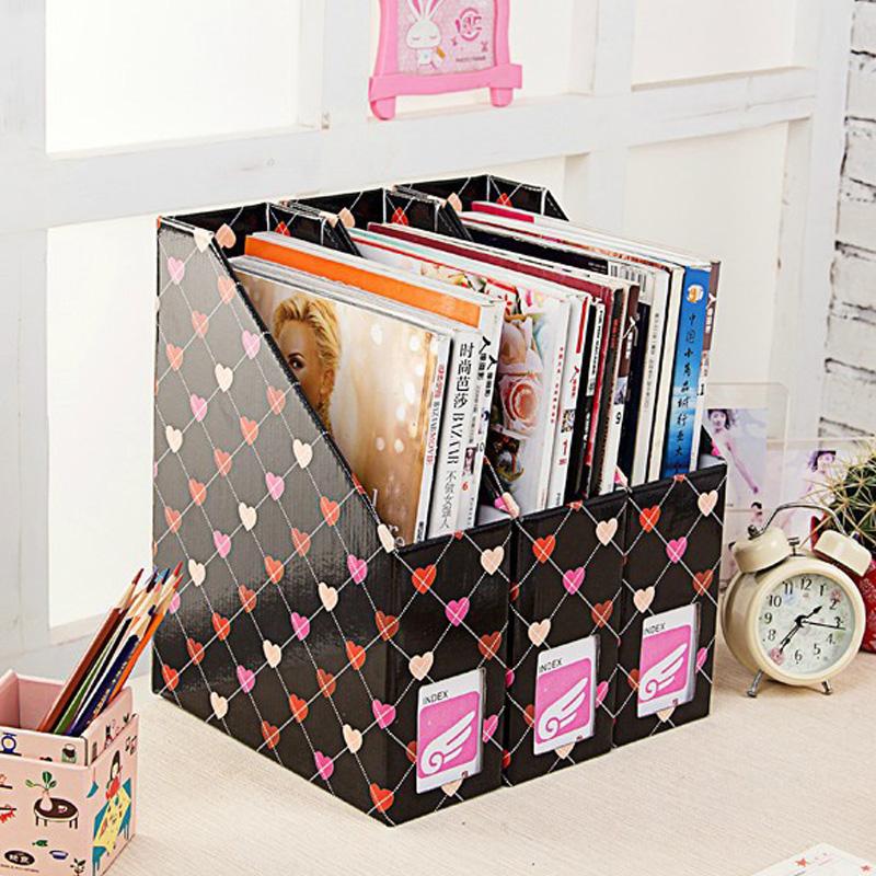 Desktop receive a case artifact desktop bedroom bookshelf file storage box gift office supplies(China (Mainland))