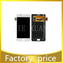 Original I9100 LCD display + touch screen digitizer assembly for samsung galaxy S2 i9100 white Free shipping
