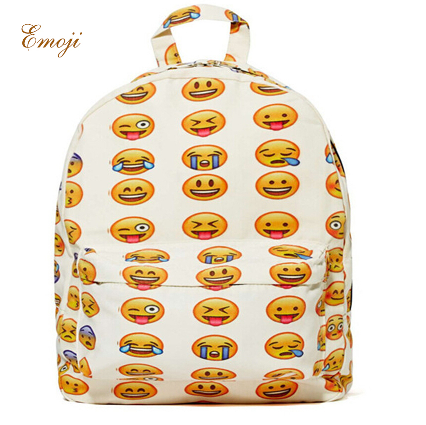 Hottest! 2015 New Emoji Backpack Canvas 3D Printing backpacks Cute Men's Original Design Women Freeship - Baby Face Store store