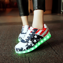 Led shoes for adults women casual shoes led luminous shoes 2016 hot fashion led light shoes men(China (Mainland))