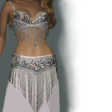 wholesale belly dance costume set (bra+belt) GOLD&SILVER COLORS #TF201