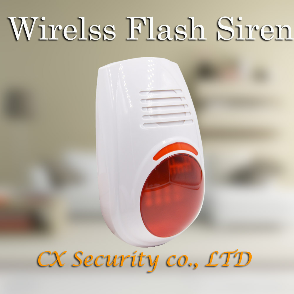 Free Shipping Hot Selling NEW 12V LED Flash Wireless Siren Can Also Be Used As Wireless Alarm System(China (Mainland))