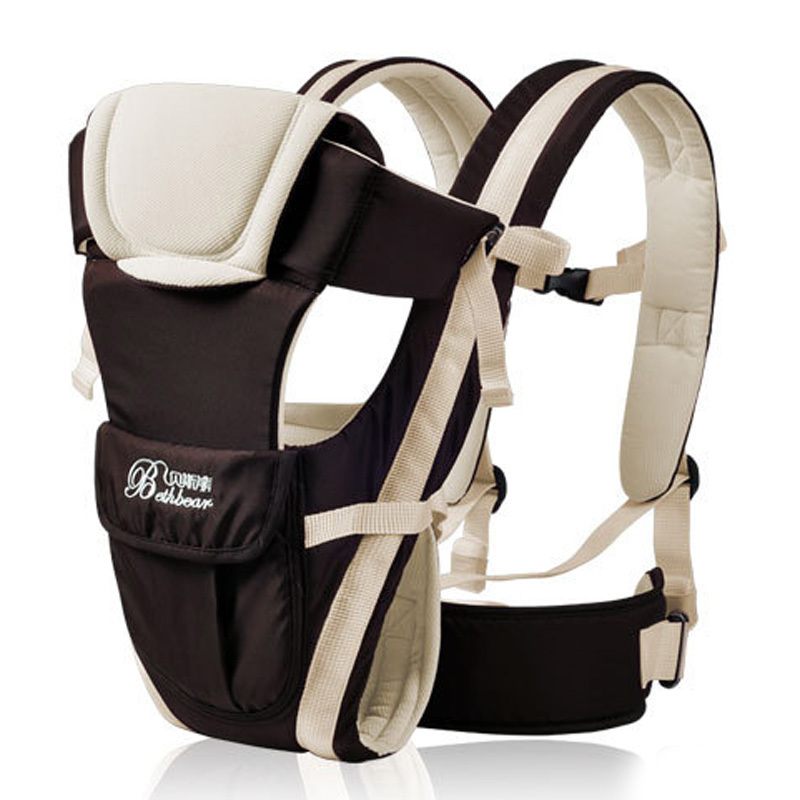 Cotton Baby Carrier Infant Kangaroo Baby Ring Front Carry Backpack Comfort Sling Wrap Hip Seat New 2015 -- MKD010 PT50