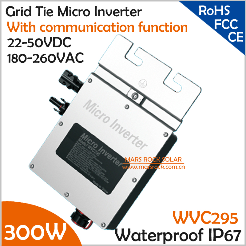 New design!!!300W grid tie micro inverter with communication function, 22-50VDC to 180-260VAC MPPT inverter for 300W solar panel(China (Mainland))