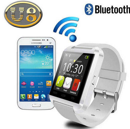 Free Shipping U8 Smart watch bluetooth smartwatch wristwatch for iPhone Samsung Android Phone Smartphones(China (Mainland))