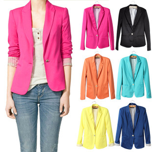NEW blazer women suit blazer foldable brand jacket made of cotton & spandex with lining Vogue refresh blazers(China (Mainland))