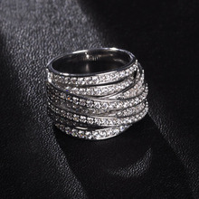 2015 New Unique Brinco Argola AAA CZ Zircon Ring Rock Male Female Steampunk Lustre Bijuterias Bague Lord of the Ring Anillos Vaz