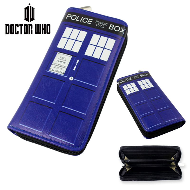 Hot Sale 19.5cm Movie TV Doctor Who Wallet Purse Toy Zipper Long Wallet Good for Gift Free Shipping(China (Mainland))