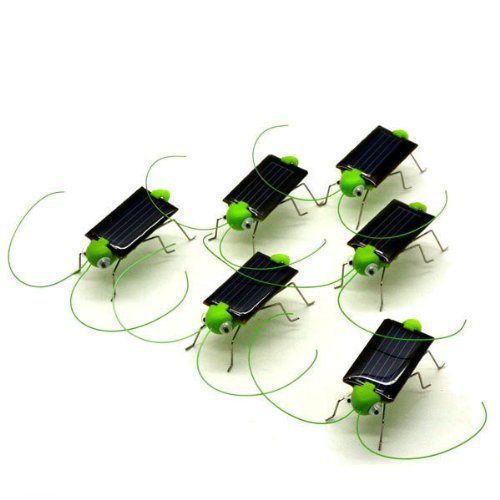 Novelty Toy Solar Powered Grasshopper Great Solar Toy for Children or Decoration 5 Pcs(China (Mainland))