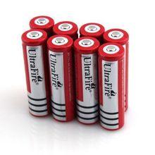 50 xUltrafire 3.7 В 4000 мАч 18650 li-ионная литий-ионная аккумуляторная батарея красный цвет