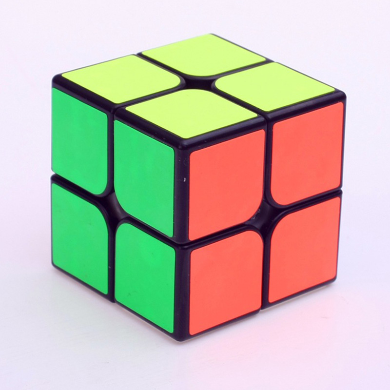 2016 Hot YJ Yongjun Guanpo 2x2 Speed Cube 50mm 2x2x2 Maigc Cube Black&White Sticker Cubo Magico Puzzle Gift Toy(China (Mainland))