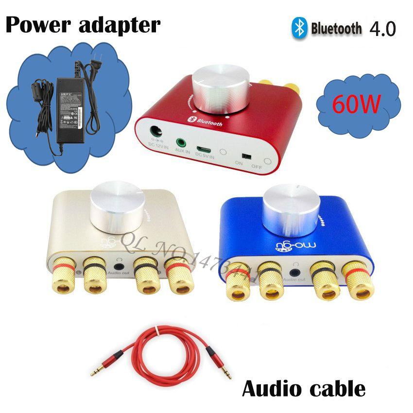 Car/Home Mini bluetooth amplifier Wireless amplifier for