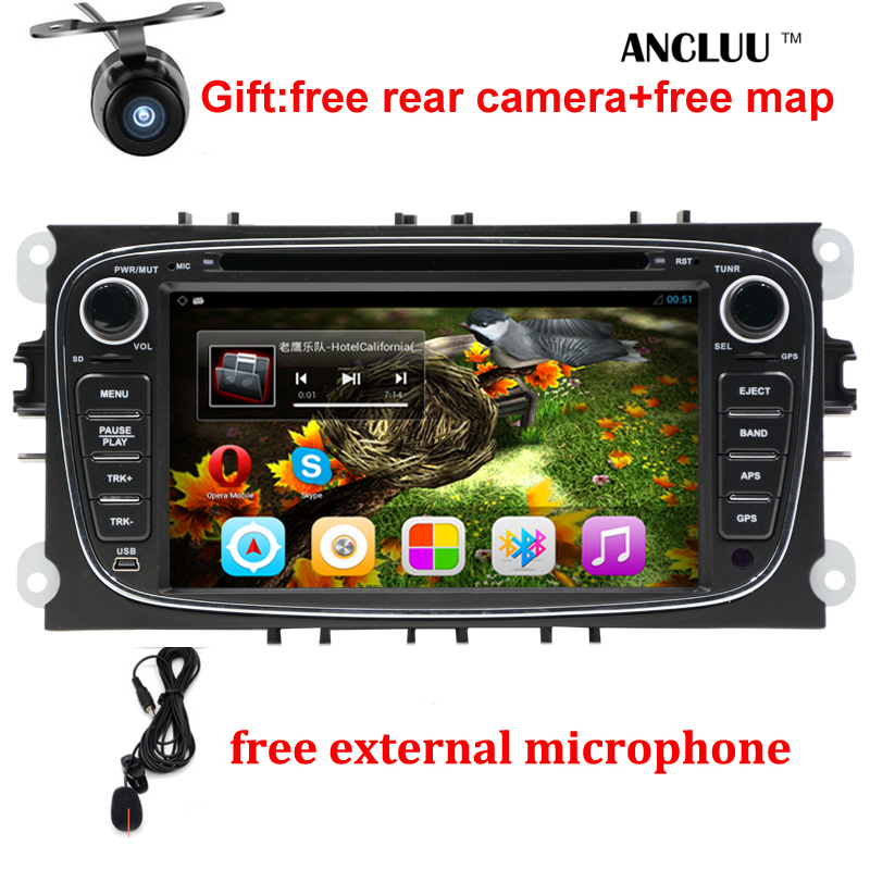 "Android 6.0 Quad core 2 Din 7"" Car DVD Player For FORD/FOCUS 2 /MONDEO/S-MAX/CONNECT 2008 2009 2010 2011 head unit Car GPS Radio(China (Mainland))"