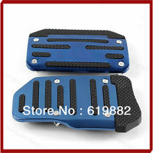 W110Drop Shipping 1Pair Blue Automatic Car Pedal Cover Brand New Non Slip Sports Vehicle Pad(China (Mainland))