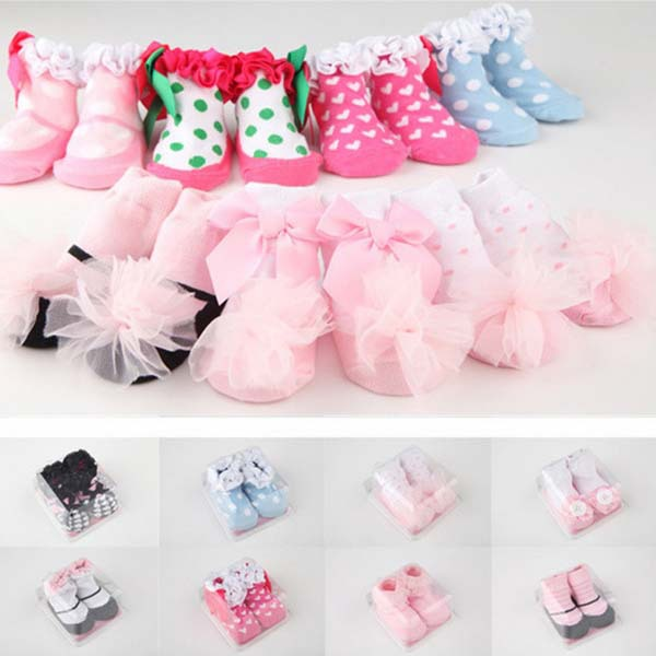 Fashion Lovely Newborn Baby Kids Girl Anti-slip Lace Floral Socks Slipper Boot 3D Shoes<br><br>Aliexpress