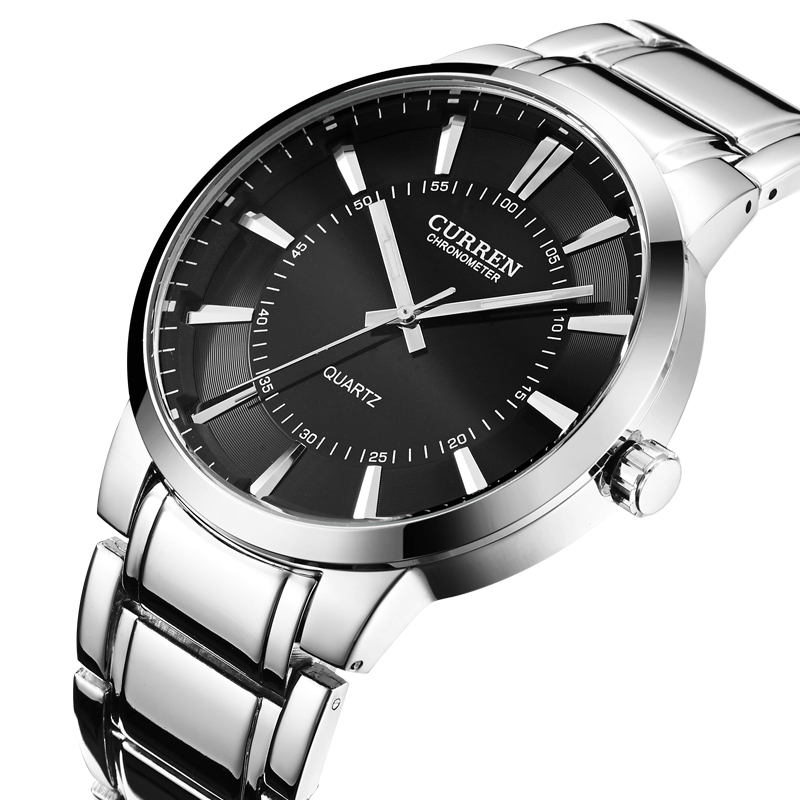 CURREN brand design 2016 new fashion casual steel sport man clock military army male business wrist quartz luxury watch 8001B(China (Mainland))
