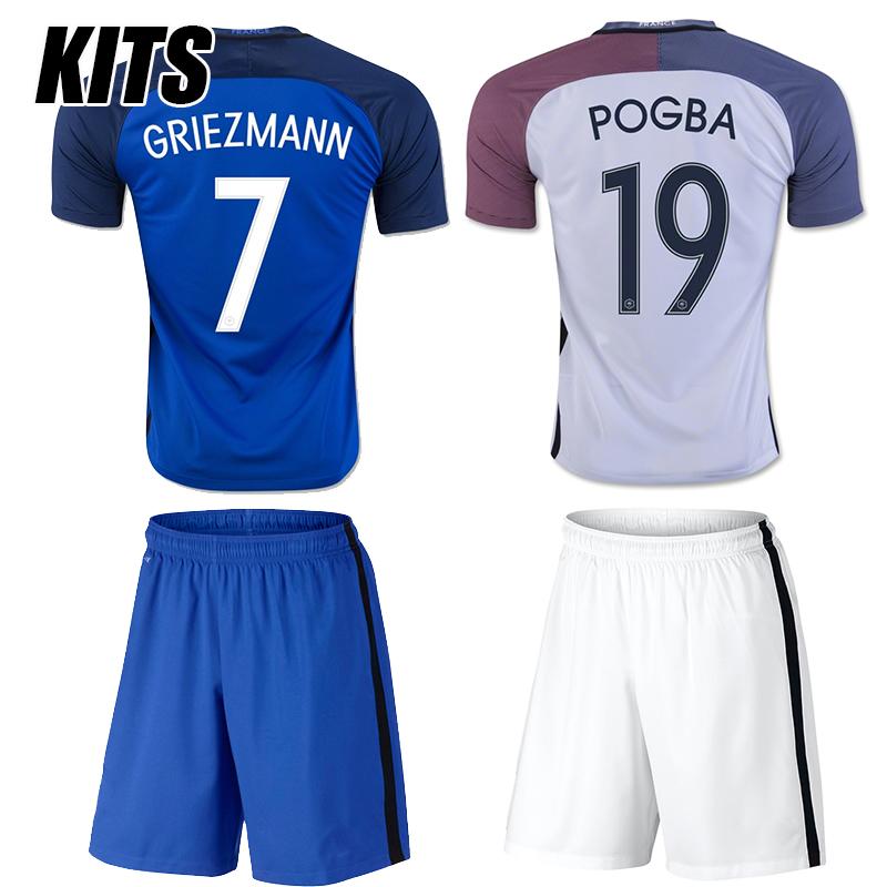 2016 Franced Kit Home Away Soccer Jersey 16 17 Maillot DE Foot Shirt 2017 survetement Football Tracksuit(China (Mainland))