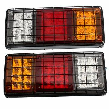 Auto Parts Tail Lights 40LED Trailer Truck Lamps Iron Metal Mesh 12V(China (Mainland))