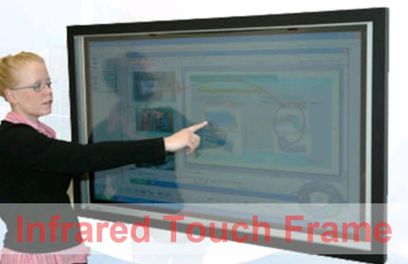 """4 real fingers Points 72"""" IR Infrared Touch Screen Bezel without glass shop window, Dust and water proofing, anti-vandal(China (Mainland))"""