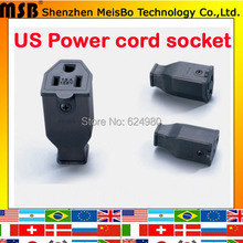 Buy Wholesale Black America 3 pins Elcectrical AC 125V 15A US Power cord cable online female power socket for $4.73 in AliExpress store