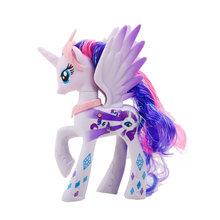 14 см игрушки My Little Pony Дружба-это чудо поп серии «Радуга Единорог пони ПВХ Фигурки Коллекция Модель Куклы(China)