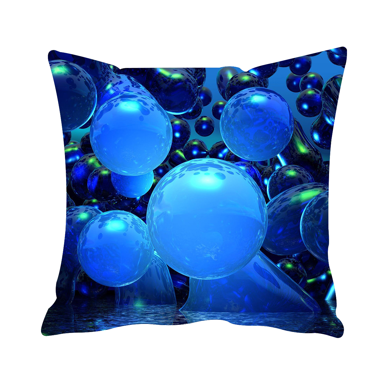 3D Balloon Pattern Customized Cotton Linen Square Throw Pillow Case Decorative Cushion Cover Pillowcase 18x18 Inch(45*45cm)(China (Mainland))
