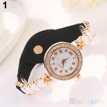 Fashion Love Heart Suede Analog Quartz Bracelet Bangle Wrist Watch Women 29YQ