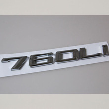 Buy 760Li Chrome Trunk Rear Letters Badge Emblem Sticker 7-Series 760Li Trunk Car for $8.99 in AliExpress store