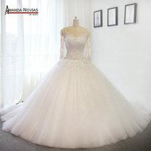 Stunning Puffy Luxury Long Train Wedding Dresses Wedding Gown 2017(China (Mainland))