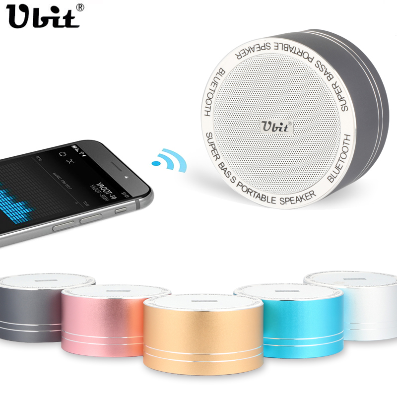 Ubit Portable Wireless Bluetooth Speakers Mini Stereo Audio Player Sound With Mic for Mobile Phone Laptop Suport SD Card FM(China (Mainland))