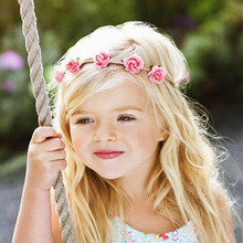 Buy Newborn Flower Headband Mini Rose Flowers Headbands Summer Style Kids Headwear Hair Band accessories Photography props for $1.11 in AliExpress store