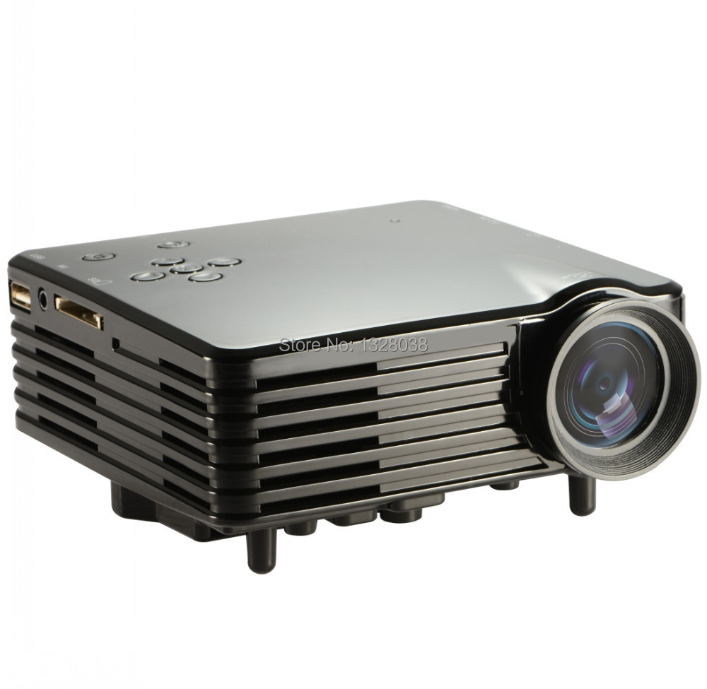 Cheapest mini led projector 400 lumens with hdmi vga usd for Small hdmi projector