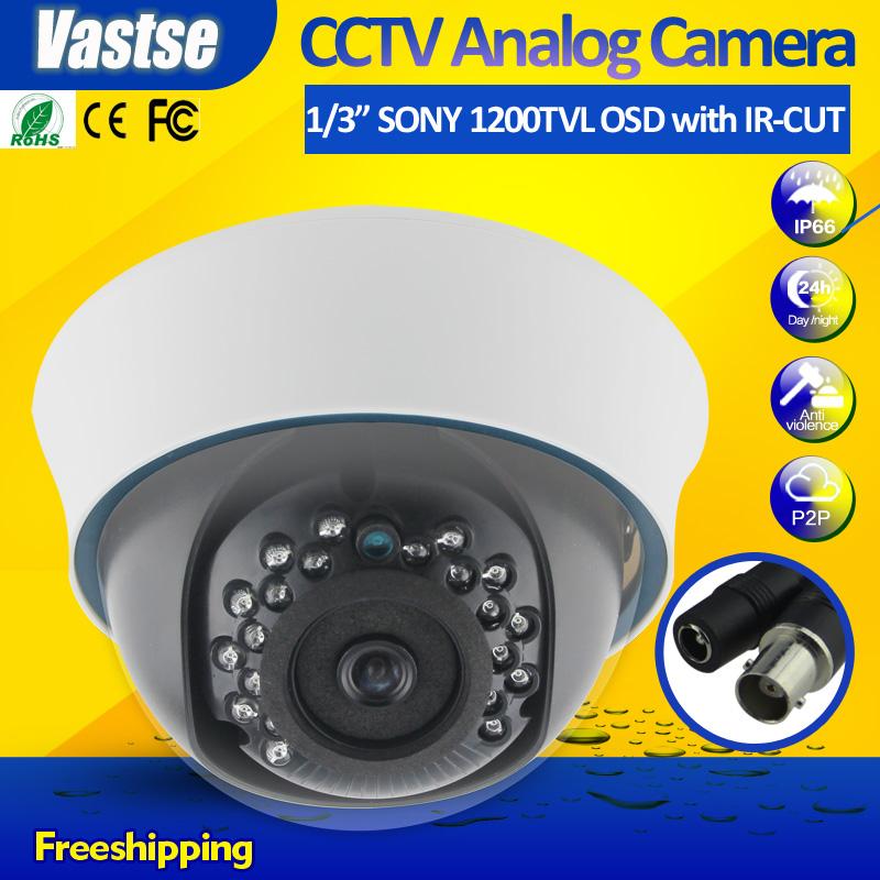 NEW 1200 TVL Security Camera 720P With OSD IR-CUT  1/3 SONY Sensor indoor dome 24 IR Surveillance CCTV Cameras hot sales<br><br>Aliexpress