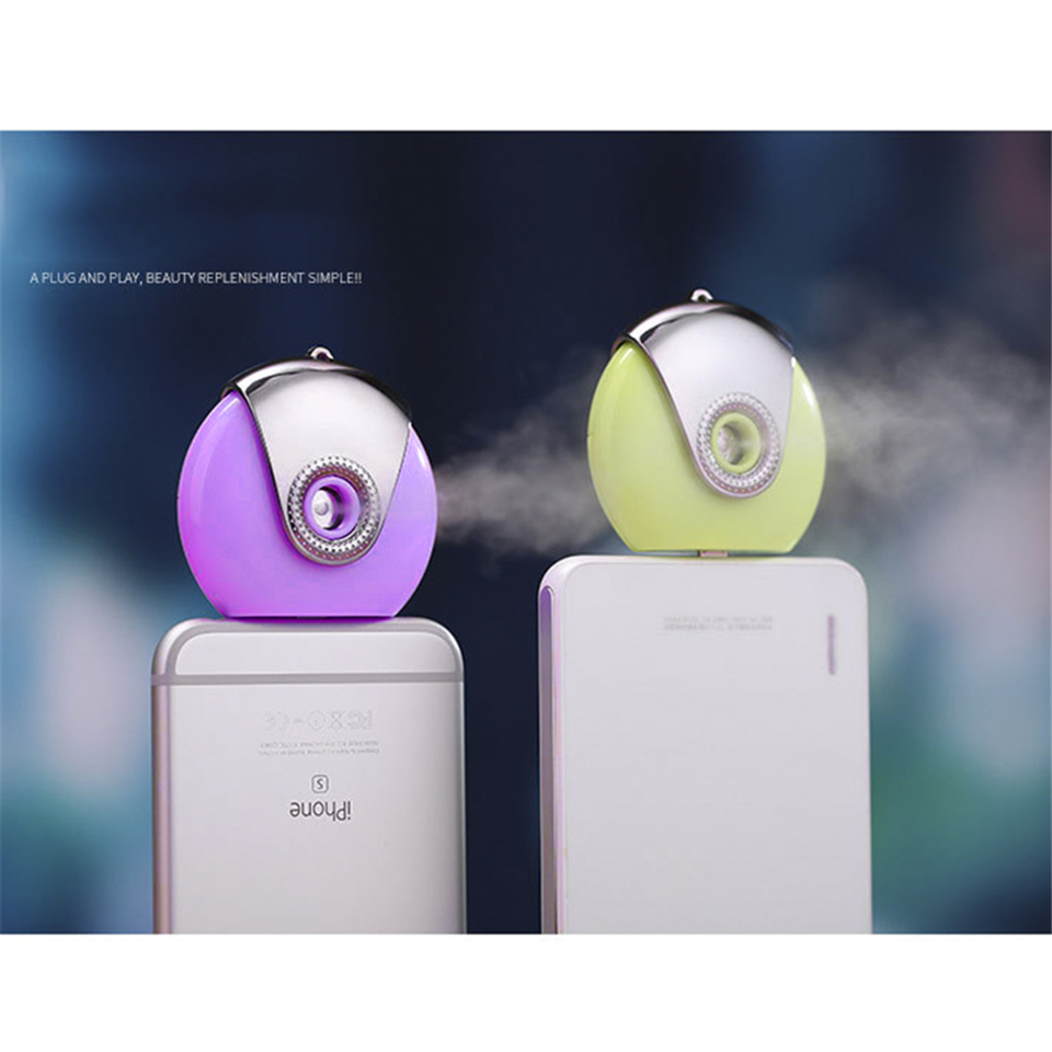 Portable Mini Mobile Phone Beauty Mist Spray Diffuser Mobile Moisture Supplier Filling Water Meter for smart phone(China (Mainland))