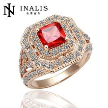 R065 Hot Sale Fashion Vintage Ruby Jewelry anillos 18K Gold Rings For Women Engagement Rings African Dubai Wedding Jewelry