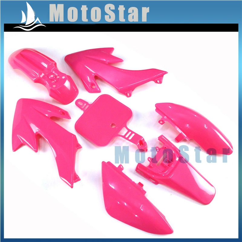 Pink Fairing Plastic Fender Kit For Pit Dirt Bike Honda CRF50 XR50 110cc 125cc 140cc 150cc Coolster Pitsterpro Braaap SSR(China (Mainland))