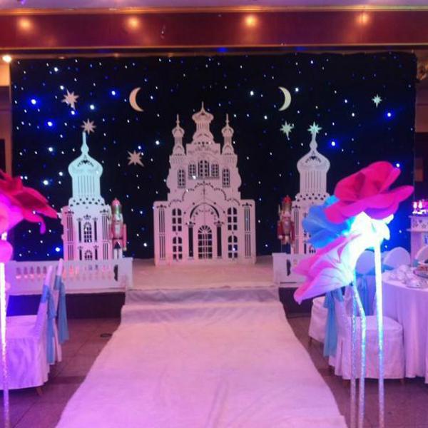 Fireproof 10ft*20ft BW (White,blue) LED Star Cloth, LED Star Curtain, LED Stage Backdrop, Wedding Decoration(China (Mainland))