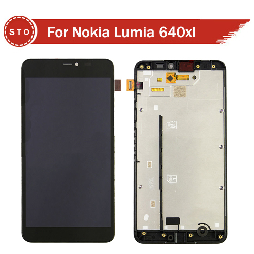 Original For Microsoft Nokia Lumia 640xl 640 xl LCD Display with Touch Screen Digitizer  Assembly with frame+Tools Free Shipping