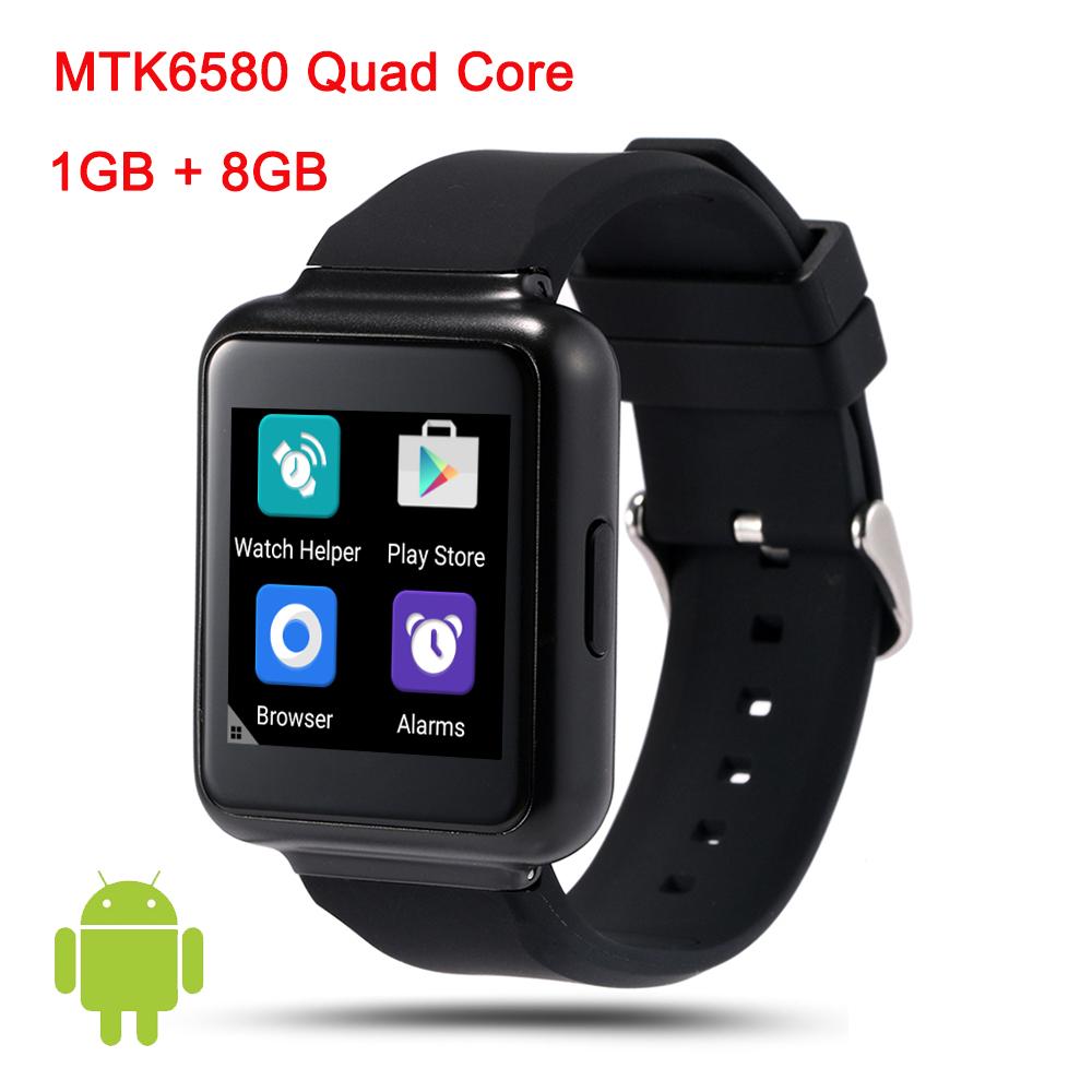 In stock ! 2016 New Q1 MTK6580 1GB/8GB 3G Android 5.1 OS Bluetooth Smart Watch Reloj Inteligente Smartwatch phone pk d5 x1 x5 x3(China (Mainland))