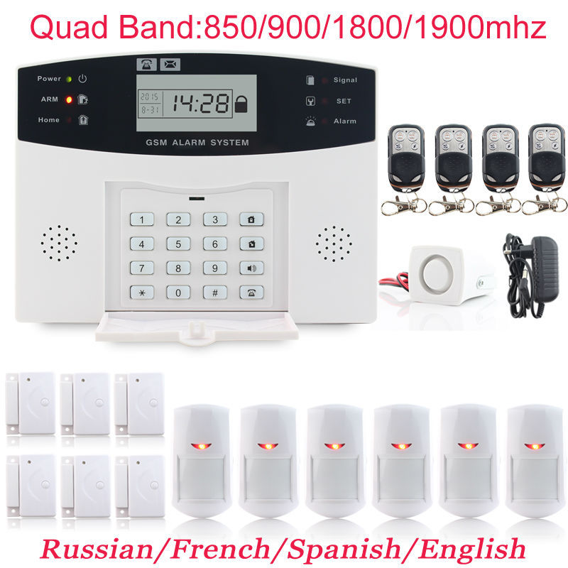 English User Manual Voice Wireless Autodial Home Alarm GSM Security System 6 x Door Sensor Infrared Detector Kit(China (Mainland))