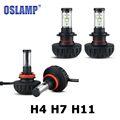 Oslamp H4 H7 H11 CREE chips LED Car Headlight 60W 40W Hi Lo Single Beam Auto