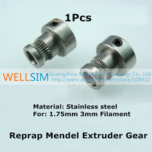 1Pcs Reprap Mendel Extruder Drive Gear For 1.75 3mm Bore 5mm Stainless steel 3d Printer Feeding Hobbed Wheel Squeeze Feed Wheel